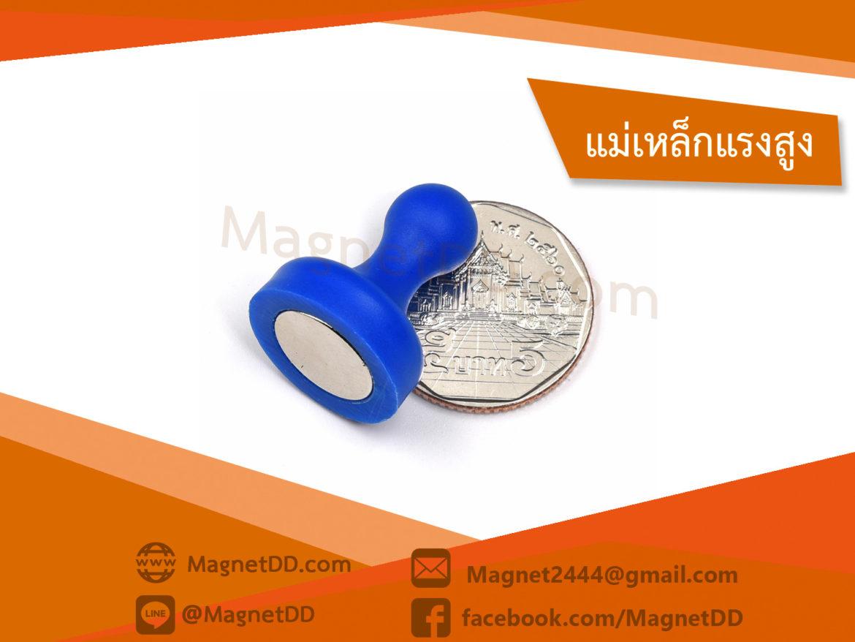 การใช้แม่เหล็กดูด พินแม่เหล็กแรงสูง Magnetic Push Pins 19mm x 25mm