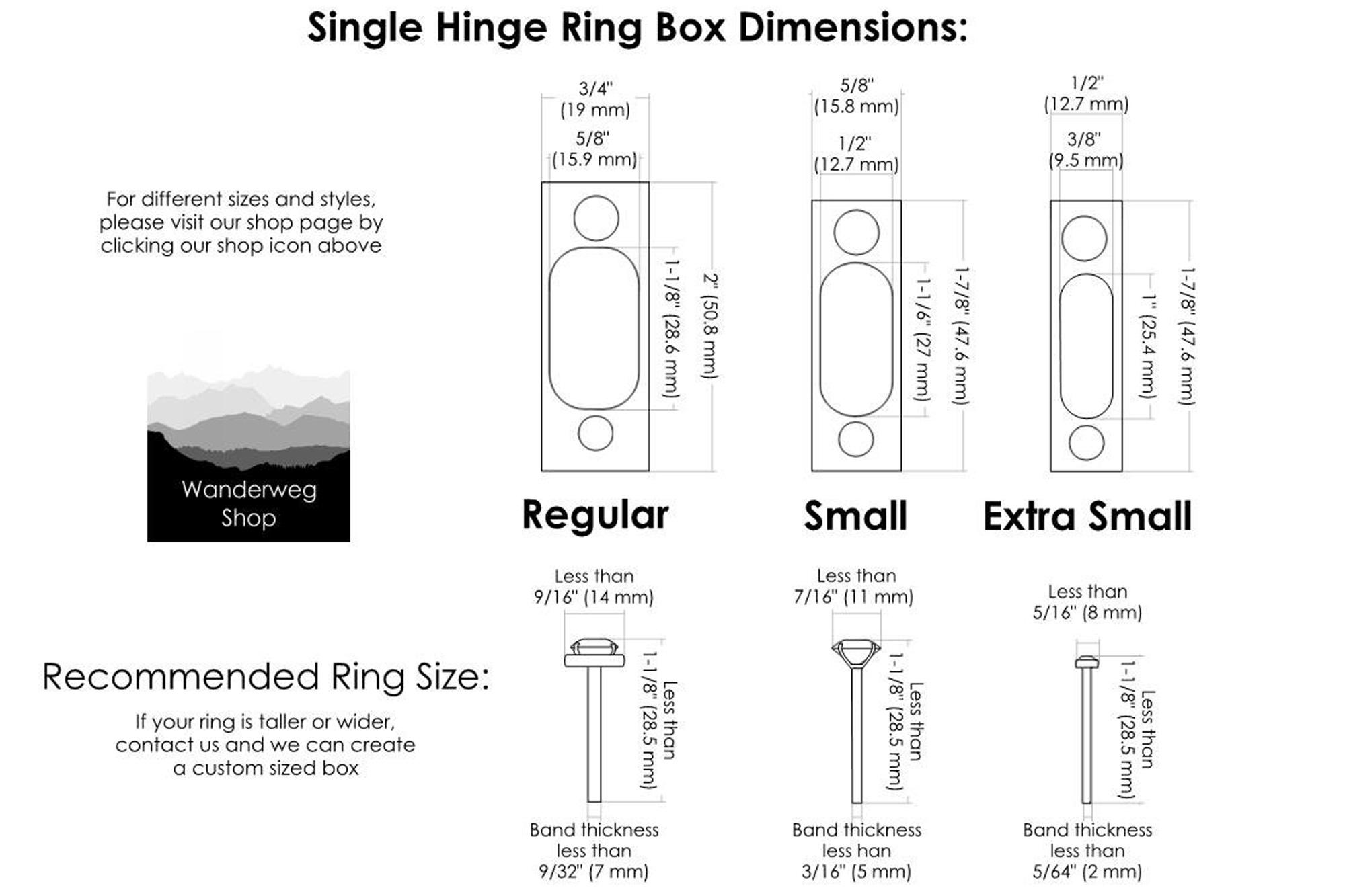 แม่เหล็ก สำหรับงานกล่องไม้ การนำแม่เหล็ก ไปใช้งาน Slim Engagement Ring Box - Single-Hinge
